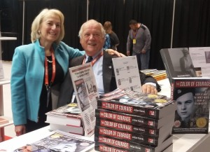 Aquila Polonica publisher Terry Tegnazian with Julian Kulski at BookExpo America 2016.